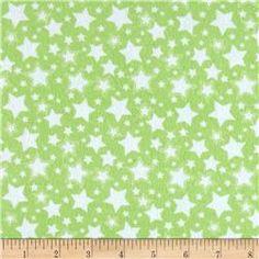 Dreamland Flannel Starry Night Green Apple