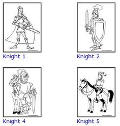 FREE Castle Knight Coloring Sheets | Toddler preschool, Knight and ...