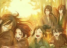 Hijikata Toshizo×Izuminokami Kanesada,Horikawa Kunihiro,Okita Souji and Yamatonokami Yasusada,Kashuu Kiyomitsu