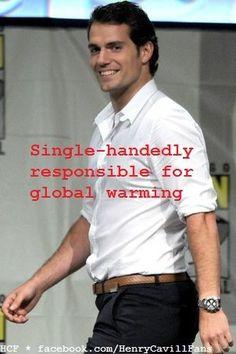 Henry Cavill ~ Single-handedly responsible for Global Warming! http://www.facebook.com/HenryCavillFans