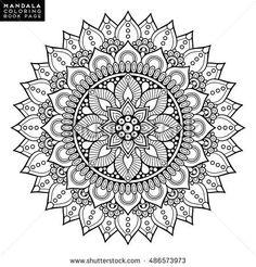 Mandala, floral mandala, flower mandala, oriental mandala, coloring mandala, book page