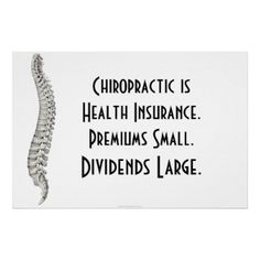 Chiropractic is health insurance!  Call us today to enroll!  770-485-6955.  www.familyaffairchiropractic.com