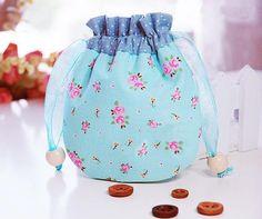 DIY Crafts : DIY Fabric bag with pastoral style