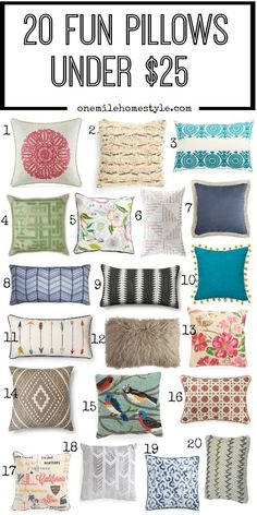 20 Great Throw Pillows Under $25