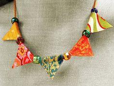 DIY: fabric bunting beads tutorial #accessories