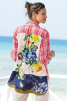 Kaolin Shirt from Soft Surroundings... DIY Inspiration possibly