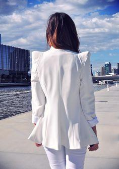 white on white fashion | Fashion editorial on Friend in Fashion