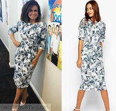 The Today Show AU: May 2016 Lisa's Blue & White Floral Dress