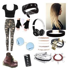 """""""Jenna"""" by ejansen112 on Polyvore featuring WithChic, Dr. Martens, Eloquii, Zodaca, Charlotte Russe, West Coast Jewelry, Beats by Dr. Dre and Ray-Ban"""