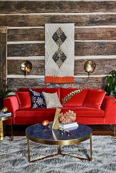 Interior Design, Renovation, Decoration, Furniture - archiparti is an award-winning interior design management service for go-getters. Living Room Red, Living Room Decor, Colorful Apartment, Red Sofa, Furniture Styles, Shabby Chic Furniture, House Colors, Interior Design, Luxury Interior