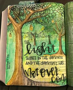 the darkness has not overcome Faith Bible, My Bible, Bible Art, Bible Scriptures, Bible Quotes, Art Journaling, Bible Study Journal, Scripture Study, Scripture Journal