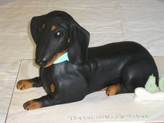 Doxie Desserts: This dachshund birthday cake