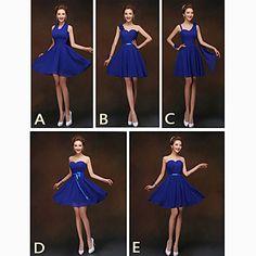 Mix+&+Match+Dresses+Short/Mini+Chiffon+5+Styles+Bridesmaid+Dresses+(2840138)+–+USD+$+26.99