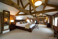 The Honeymoon Suite at Wasing Park, Berkshire equipped with the biggest bed in the county!