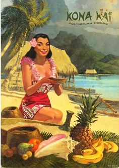 Critiki is a guide to over tiki bars, Polynesian restaurants and other sites of interest to the midcentury Polynesian Pop enthusiast. Part historic archive, part travel guide, and all tiki. Tahiti, Hawaiian Art, Vintage Hawaiian, Aloha Vintage, Vintage Tiki, Vintage Art, Vintage Mermaid, Vintage Travel Posters, Vintage Postcards