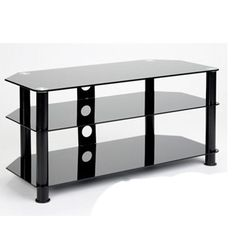 tempered glass bookcase entertainment center   TEMPERED BLACK GLASS PLASMA LCD TV DLP STAND CONSOLE 37 40 42 46 50 52 ..