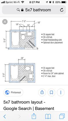 62 best 5x7 bathroom layout images small shower room bathroom rh pinterest com
