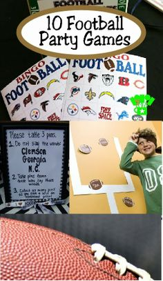 10 Football Party Games Featured at Kims Kandy Kreations Flag Football Party, Kids Football Parties, Kids Sports Party, Football Party Games, Soccer Party, Football Birthday, Sports Birthday, Kids Party Games, Super Bowl Party Games