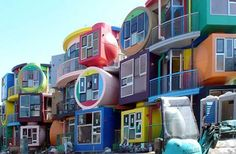 Reverse Destiny Lofts: designed by  Arakawa and Gins in 2005, this small apartment block in the Tokyo suburb of Mitaka resembles an indoor playground for toddlers, but was created as a challenge to older adults