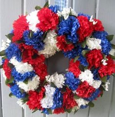 American flag red, white and blue colored reef image via Carol's Country Sunshine on Facebook