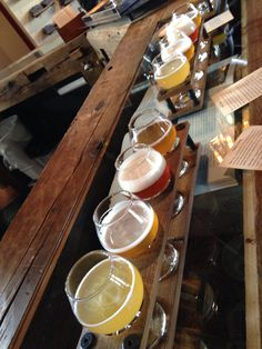 Allagash Brewery tasting, Portland, Maine.........   you have to love a town that takes its beer seriously.
