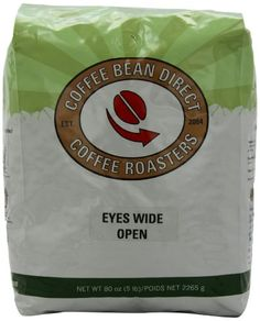 Coffee Bean Direct Eyes Wide Open Blend, Whole Bean Coffee, 5-Pound Bag - http://goodvibeorganics.com/coffee-bean-direct-eyes-wide-open-blend-whole-bean-coffee-5-pound-bag/