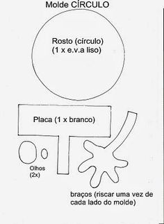 Ensinando com Carinho: Formas Geométricas de EVA com moldes