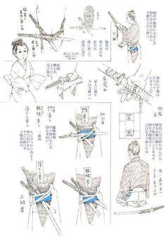manga drawing tutorials, comic drawing tutorials, publishing your art, all in here for you to learn how to draw manga Samurai Weapons, Samurai Swords, Katana Swords, Japanese Culture, Japanese Art, Japanese Sword, Japanese Blades, Poses Manga, Sword Poses