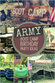 Army boot camp birthday party ideas