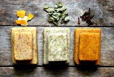 Homemade soap, cold process soap, rosemary soap, small bar soap, all natural soap, organic, herbal soap, vegan soap, handmade soap. $3.50, via Etsy.