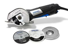 Depending on which attachment you use, this versatile, 7.5-amp mini saw can be used as a grinder, a flush-cutting saw, a tile cutter, a masonry saw, or a wood-cutting saw for sheet materials up to ¾ inch thick. From @dremel