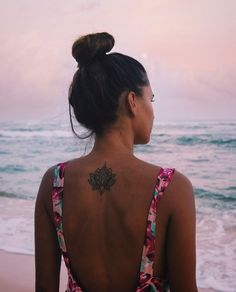 Picking the perfect tattoo for you can be hard, but it doesn't need to be. Here are the tattoos you need ASAP according to your Zodiac sign. Mom Tattoos, Back Tattoos, Tattoo You, Back Tattoo Women, Tattoos For Women, Tattoo Fixes, Lotus Tattoo, Mandala Tattoo Neck, Flower Tattoo Back