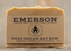 Bay Rum Soap with Lime, Cinnamon, Clove & Lemongrass • Palm Free Soap, All Natural Soap, Vegan Soap, Cold Process Soap, Stocking Stuffer
