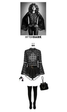 """after dark"" by helena99 ❤ liked on Polyvore featuring Marc, ESCADA, Alexander Wang, Oscar de la Renta, Marc Jacobs and MAC Cosmetics"