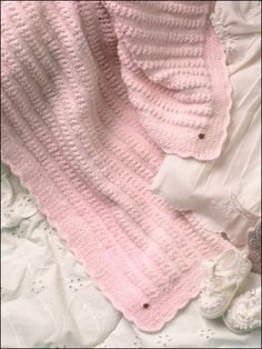 Free Baby Knitting Patterns - Angel Lace Baby Afghan -- Free Knitting Pattern for a Baby Blanket