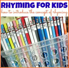 Rhyming for Kids: Introducing Rhyming to Children -- 2nd part of a 5-part rhyming series.  How to introduce the concept of rhyming to children in real, meaningful ways.