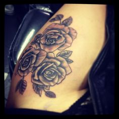 My thigh tattoo roses love sweet tattoos, leg tattoos, rose tattoos,