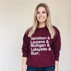 Hamilton Laurens Mulligan Lafayette Burr unisex hamilton Sweatshirt! this is the perfect gift tee to gift your friend, family or you! add to your wishlist!