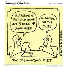 What's The Difference Between CVs, Resumes and Curricula Vitae?  Read more at: http://jobmob.co.il/blog/difference-between-cv-resume-curriculum-vitae/#ixzz2ZzNlfDGu (poet resume cartoon)