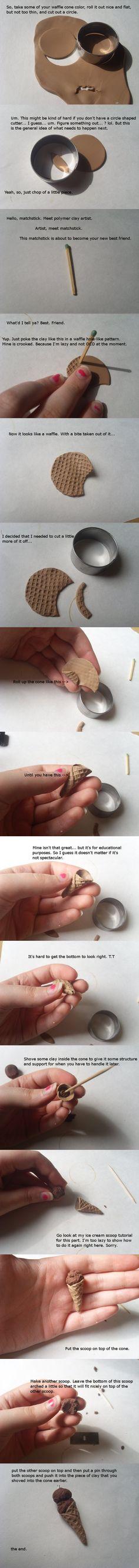 como hacer wafle cone