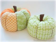 Fabric Pumpkins Tutorial - Just in time for Halloween