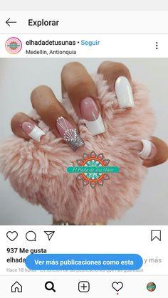 Mani Pedi, Nail Manicure, Nail Polish, Simple Acrylic Nails, Luxury Nails, Classy Nails, French Nails, Nails Inspiration, Fun Nails