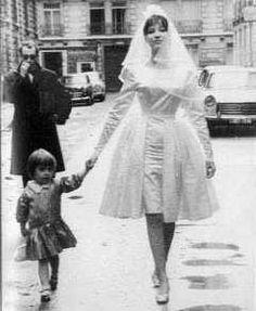 Anna Karina's wedding dress