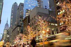New York during Christmas time