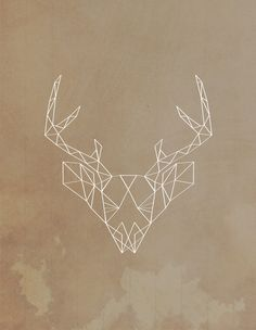 #geometric #buck #deer #country #redneck #poster #illustration #art