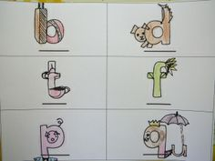 "neat letter reversal visuals…but I like ""doorknob & door"" better for 'd'"