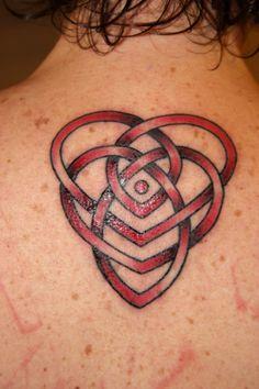celtic motherhood tattoo in red