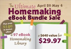 How About I Give Away an Ultimate Homemaking Bundle?