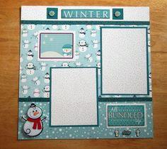 Winter Scrapbook Page Winter Scrapbook Layout 12 x 12