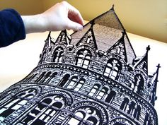 shut the hell up #papercut #papercutsbyjoe #handcut #gothic #cathedral